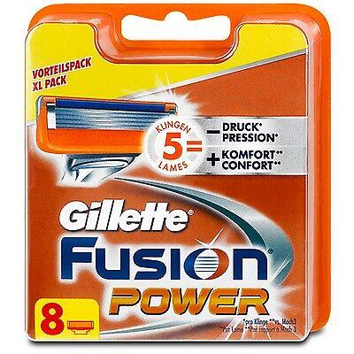 8 Klingen Gillette Fusion Power Rasierklingen 8er Original NEU & OVP