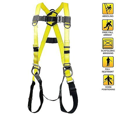 Spidergard Three D-ring Full Body Fall Protection Safety Harness Yellow -sph002