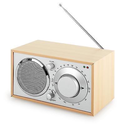 RETRO DESIGN RADIO NOSTALGIE KOFFERRADIO KÜCHENRADIO HOLZ TUNER EMPFÄNGER AUX