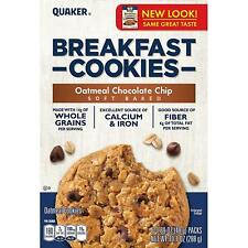 Quaker Breakfast Cookies, Oatmeal Chocolate Chip, 6 Cookies Per Box (6 Boxes)