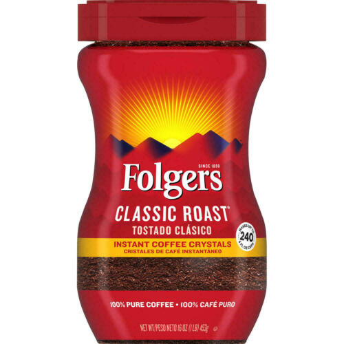 Folgers Classic Roast Instant Coffee Crystals - 16 oz.