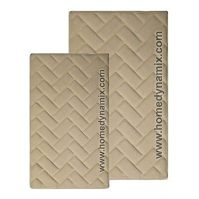 Sand Memory Foam Bath Mat/rug : Brick Design, Soft Microfiber, Non Skid Backing ()