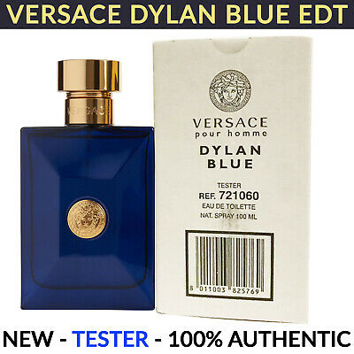 Versace Pour Homme Dylan Blue EDT for Men Cologne Spray 3.4 oz 100ml NEW TESTER