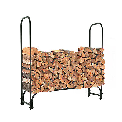 48Inch Heavy Duty Firewood Log Rack Indoor Outdoor,4FT Patio Deck Steel -