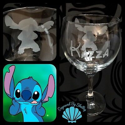 Disney Lilo And Stitch Gin & Tonic Balloon Glass Personalised Gift Any Name