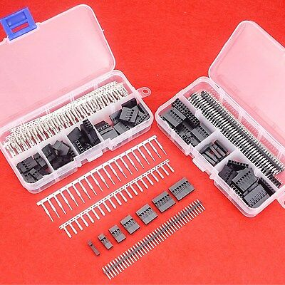 Hilitchi 345 Pcs 40 Pin 2.54mm Pitch Dupont Male/Female Housing Connector Kit