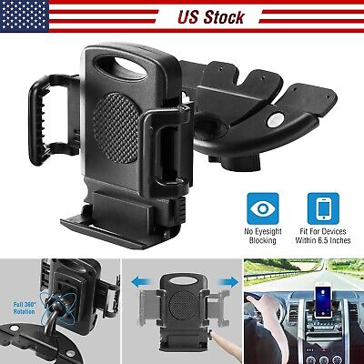 CD Slot Car Phone Holder Magnetic Cradle Mount 360° Rotation for iPhone XS/XR/XS