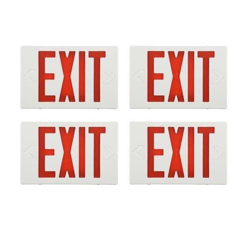 4 PACK LED Emergency Exit Light Sign Exit Sign Battery Indoor Emergency Lighting