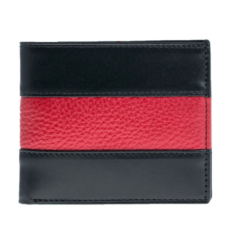 Fire Thin Red Line Leather Bi-fold Wallet