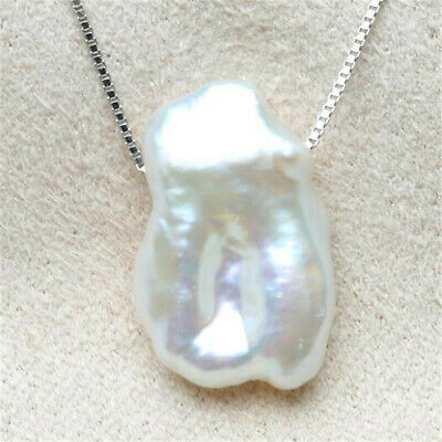 Fashion White petals Baroque Pearl Pendant Necklace fashion Cultured Mesmerizing