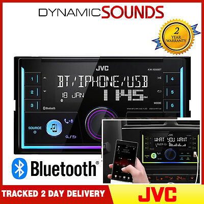 Jvc Kw X830bt Mechless Double Din Bluetooth Aux Usb Mp3 Car Van Taxi Stereo