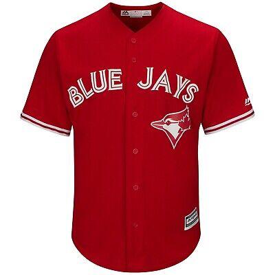 Alte Baseball-jersey (MLB Baseball Trikot Toronto Blue Jays Alternate rot Cool base Majestic Jersey)