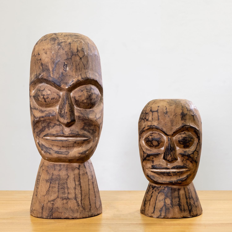 WOHNFREUDEN Suar Deko-Skulptur Belo verschiedene Größen Dekoration Holzfigur