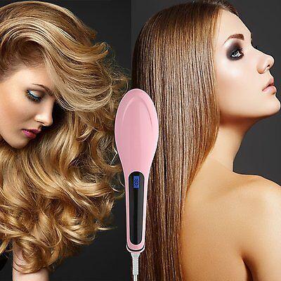 Original Glättbürste Haarglätt Bürste mit CE Glätteinsen Haarglätter Haarbürste