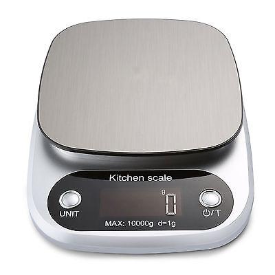 AGM 10KG/1g Digital Edelstahl Küchenwaage LCD Electronic Waage Haushaltswaage