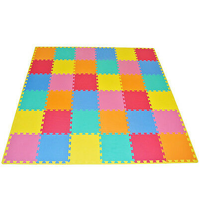 "Kids Foam Floor Puzzle Play Mat Gym Toy 36 Pcs 12""x12"" Baby Toddler Soft Playmat"