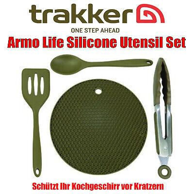 Trakker Armo Life Silicone Utensil Set - Kochzubehör Greifzange Löffel Spatel