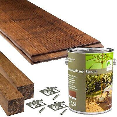 Bambus Dielen (Elephant CoBAM Terrassen-Dielen Standard Komplett-Set Bambus Holz-Dielen )