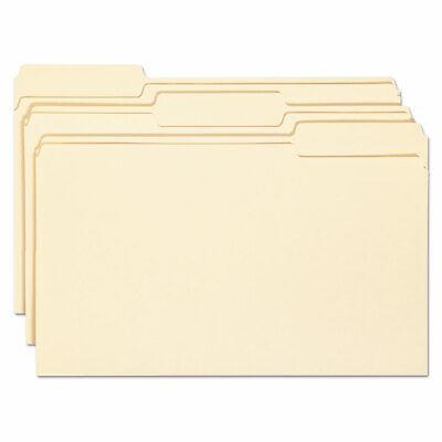 Smead Antimicrobial File Folders 13 Cut Top Tab Legal Manila 100box 15338