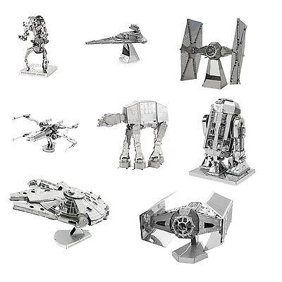 Metal Earth 3D Laser Steel Cut Model Kits Star Wars Set of 8 Complete Gift Set