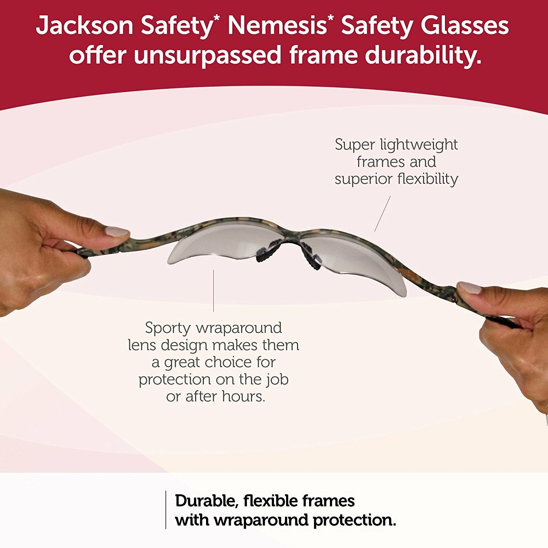 Купить Jackson Safety Nemesis V30 - JACKSON NEMESIS SAFETY GLASSES SUNGLASSES SPORT WORK VARIETY PACKS