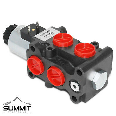 Hydraulic Solenoid Selectordiverter Valve 13 Gpm 12v Dc 8 Sae Ports