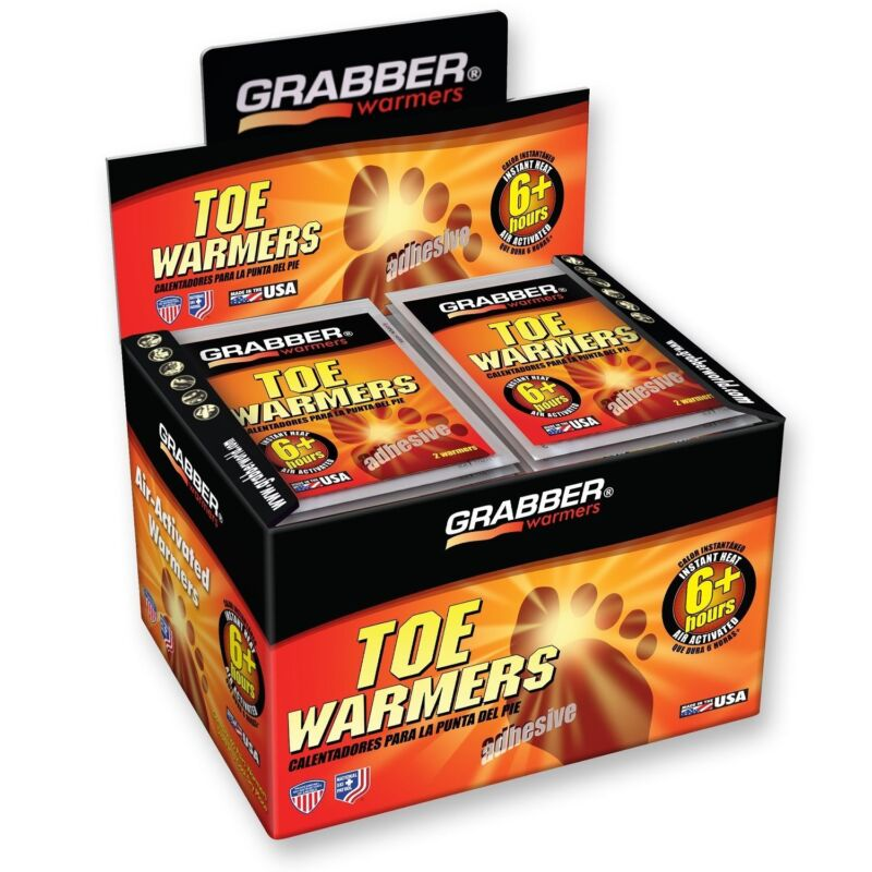 Grabber TOE Warmers 40 Pair- (Product is D Quality) Please read condition note!!