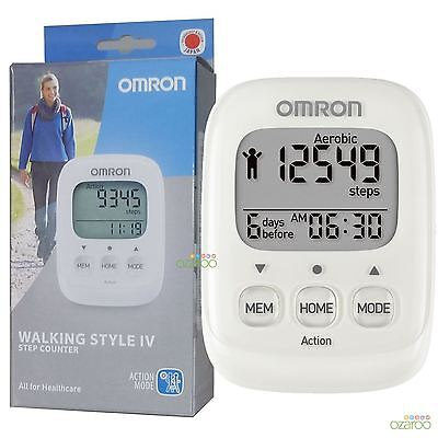 Omron Walking Style IV Exercise Step Calorie Counter Activity Monitor (Walking Style Pedometer)