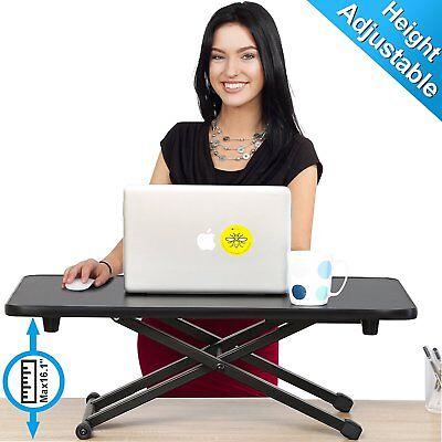 Computer Desk Laptop Adjustable Stand Up Workstation Sit Stand Monitor Riser