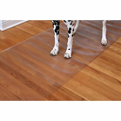 Plastic Floor Runner (Clear Vinyl Runner Hardwood Floor Protector Plastic Mat Non Skid Heavy Duty)