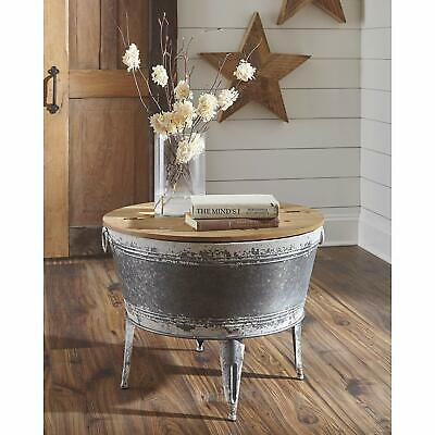 Farmhouse Rustic Coffee Table Storage Industrial Storage Trunk Chest Living Room ()