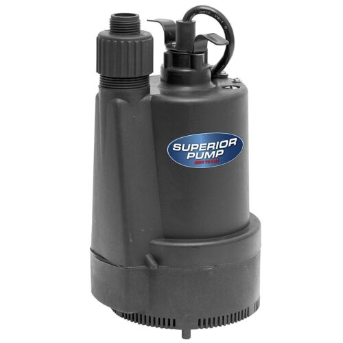 1/3 HP Submersible Utility Pump Sump Water Garden Hose Adapter Thermoplastic New