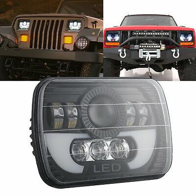 5x7 7X6 120W LED Headlight Hi/Lo Beam For Jeep Cherokee XJ Wrangler YJ MJ GMC
