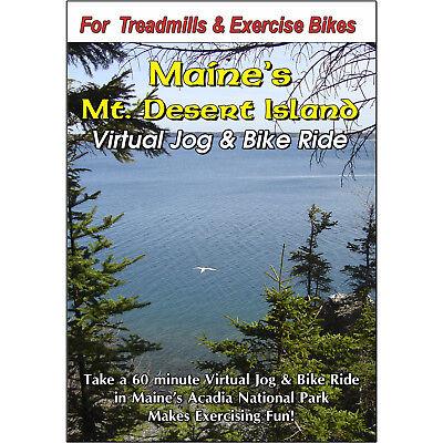 MT DESERT ISLAND, ACADIA NAT PARK, MAINE CYCLING SCENERY DVD VIRTUAL BIKE RIDE
