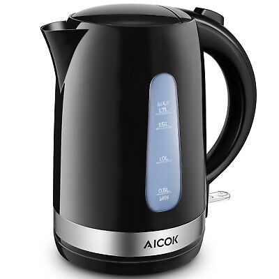 Aicok Electric Kettle 1.7L Tea Kettle with British Strix Con