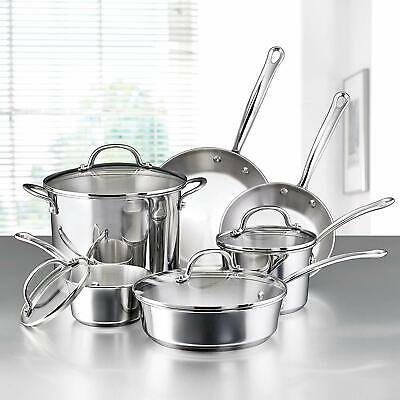 Stainless Steel Induction Cookware Set Best Kitchen Pots And Pans 10-Piece