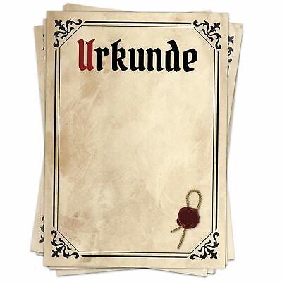 20 x Urkundenpapier A4 120g antik Papier braun beidseitig Urkunde Zertifikat