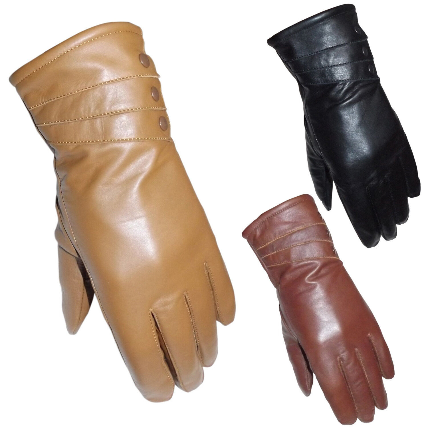 Ladies fashion leather gloves 17