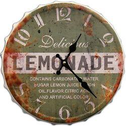 Round Decorative Metal Wall Clock Retro Antique Look 3D Quartz movement 13x13