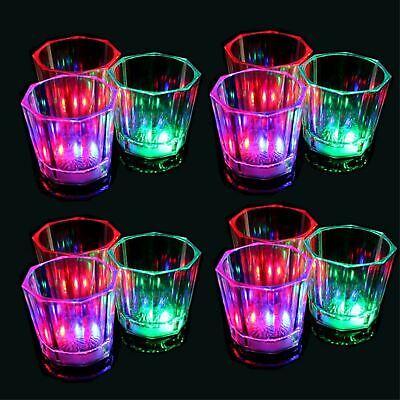 Led Shot Glasses (Set of 24 Light-Up MultiColor Shot Glasses LED Flashing Party Drinking)