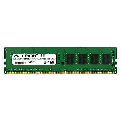 Acer Aspire Memory Upgrade (A-Tech 8GB 2666MHz DDR4 RAM for Acer Aspire TC-885-UR12 Desktop Memory)