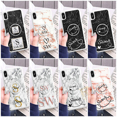 Personalised Name Phone Case Cover + Pop Up Finger Holder For Apple iPhone 081