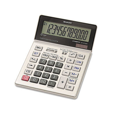 Sharp VX2128V Commercial Desktop Calculator 12-Digit LCD