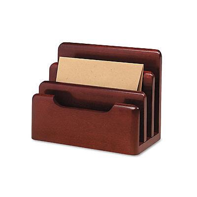 Rolodex Wood Tones Desktop Sorter Three Sections Wood Mahogany 23420