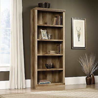 مكتبة كتب جديد Sauder 417223 East Canyon Bookcase With Five Shelf In Craftsman Oak Finish New