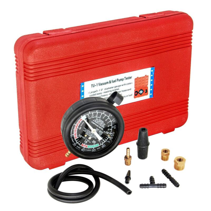 HFS(R) Carburetor Carb Valve Fuel Pump Pressure & Vacuum Tester Gauge Test Kit