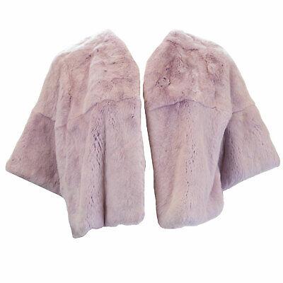 Marina Rinaldi Mujer Violeta Claro Piel de Conejo Bolero Abrigo 18W/27 Nwt
