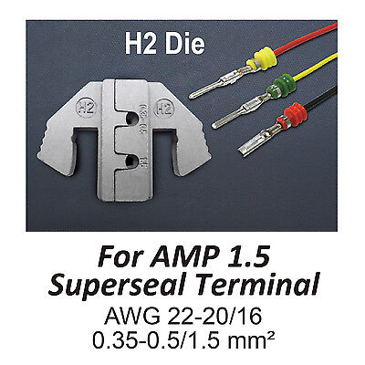 Tgr Crimping Tool Die - H2 Die For Amp 1.5 Superseal Terminal Awg 22-2016