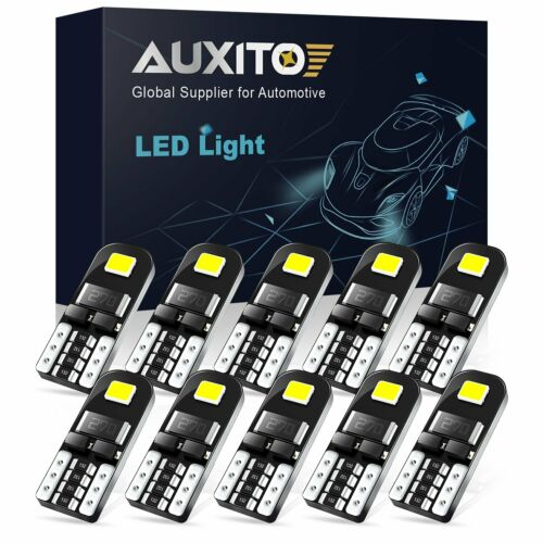 Car Parts - 10pc Super Bright 501 Led Side Light Bulbs Canbus T10 Number Plate Interior Lamp