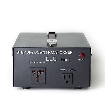 ELC T-2000 2000Watt Voltage Converter Transformer-Step Up/Down (110V/220V)